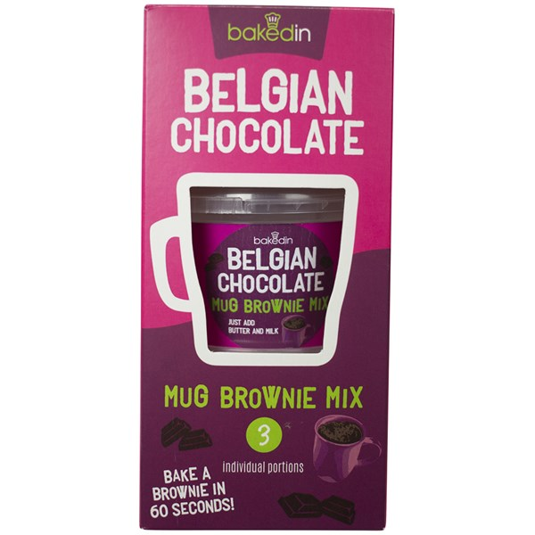 BakedIn Belgian Chocolate Mug Brownie Mix