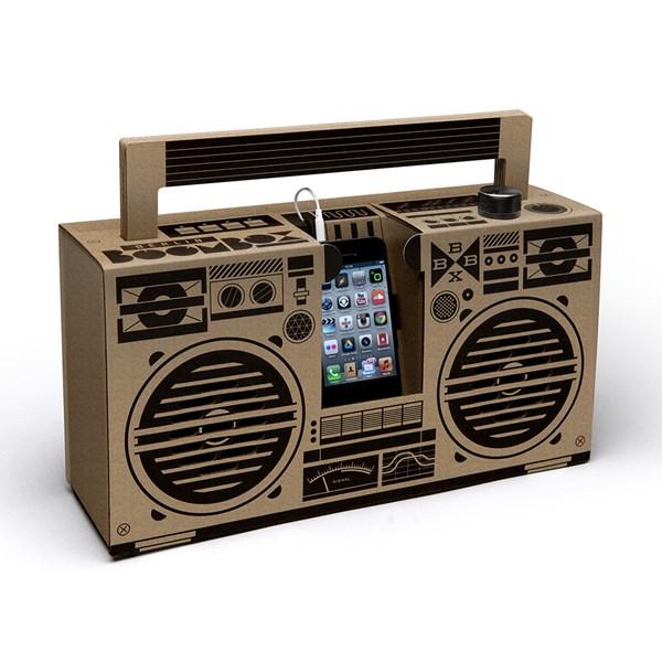 Berlin Boombox Mobile Smartphone Speaker in Brown