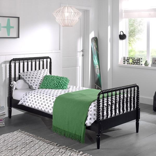 Alana Kids Single Bed in Black