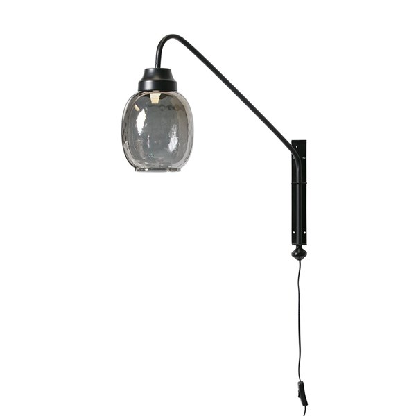 Stylish Wall Light with Glass Lampshade