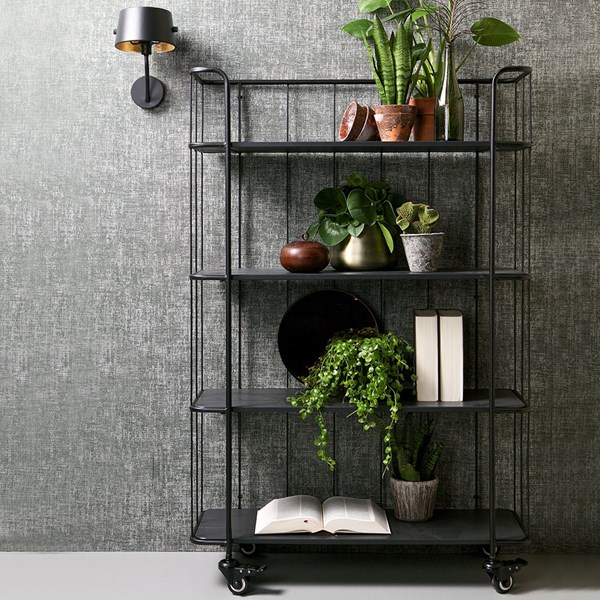 Caro High Metal Trolley Shelving Unit