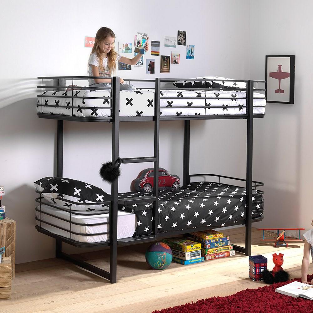Oscar Metal Bunk Bed In Black Cuckooland Cuckooland