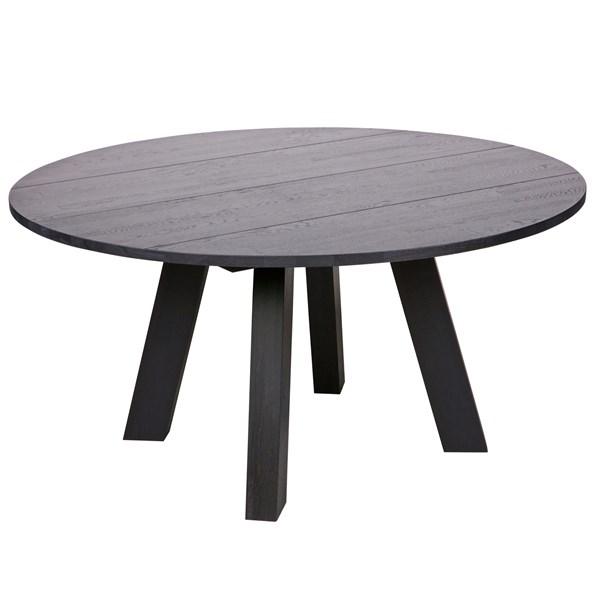 Rhonda Round Dining Table in Blacknight Oiled Oak