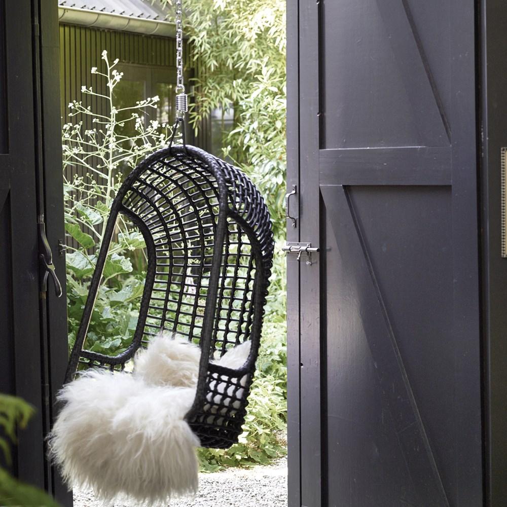 Hk Living Egg Chair.Outdoor Hanging Egg Chair In Black Hk Living Cuckooland