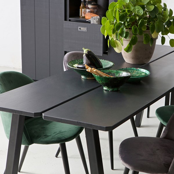 Triomf Black Dining Table by Woood