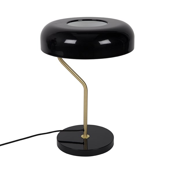 Luxury Reading Lamp in Black and Brass