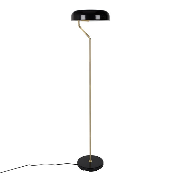 Dutchbone Eclipse Floor Lamp in Glossy Black