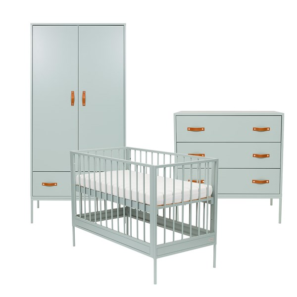 Bliss 3 Piece Nursery Furniture Set in Seagreen