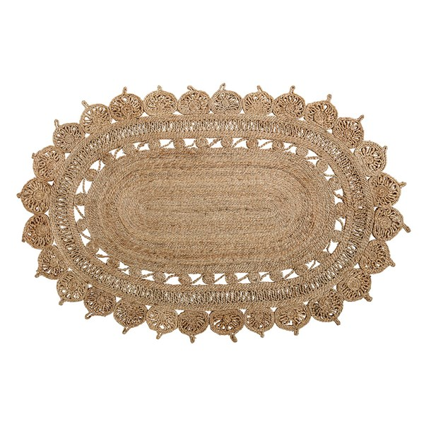 Bloomingville Natural Oval Jute Rug