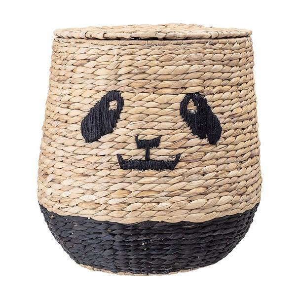 Bloomingville Water Hyacinth Panda Storage Basket