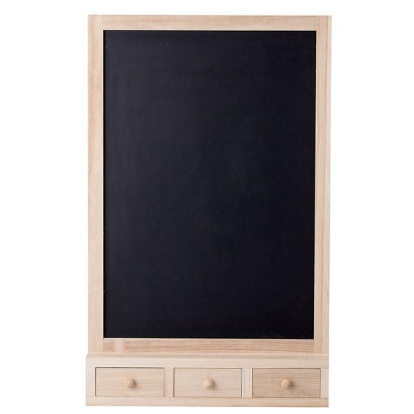 Bloomingville Higma Blackboard with Drawers
