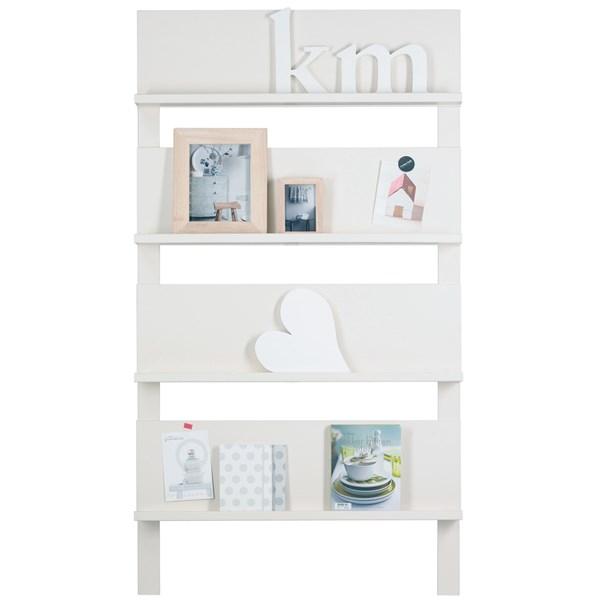 White Bookshelf and Magazine Rack
