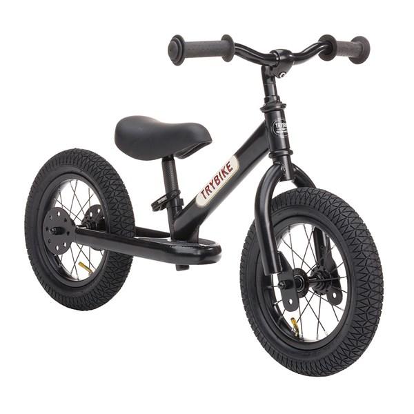 Trybike 2 in 1 Balance Bike in All Black