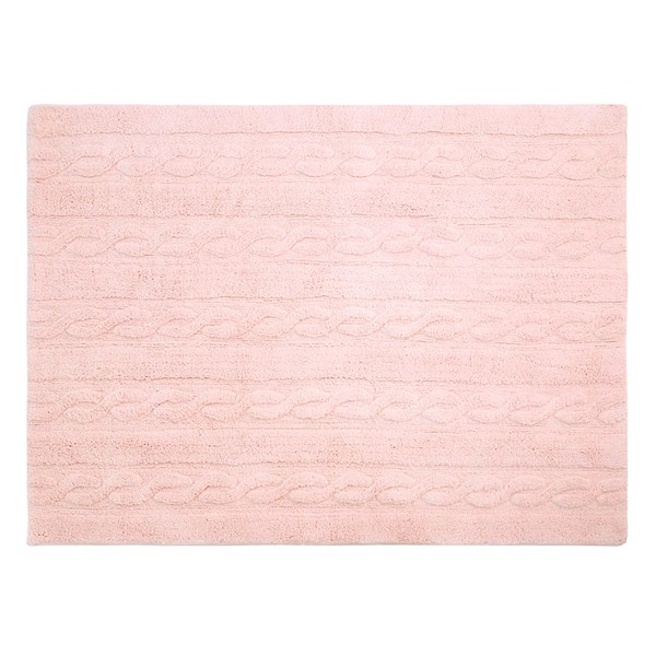Soft Pink Braids Rugs in Small and Large