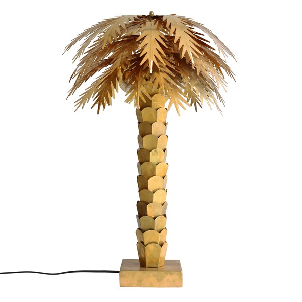 Brass Palm Tree Bedside Lamp