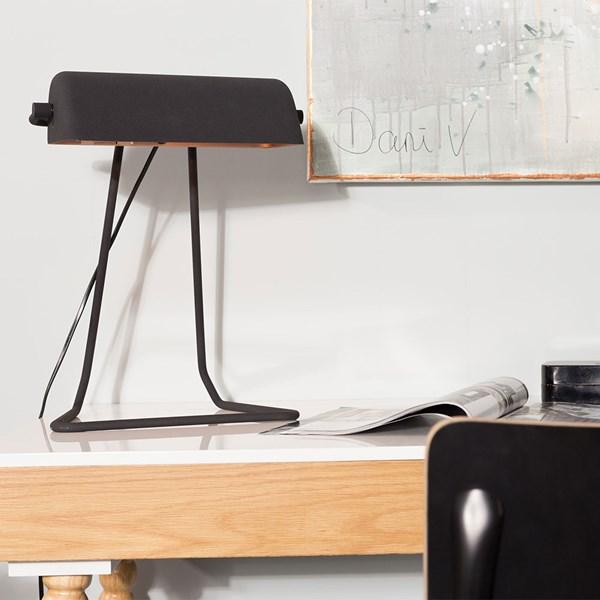 Broker Vintage Style Desk Lamp in Black