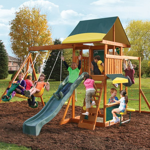 Kidkraft Bookridge Climbing Frame Outdoor Wooden Play Centre