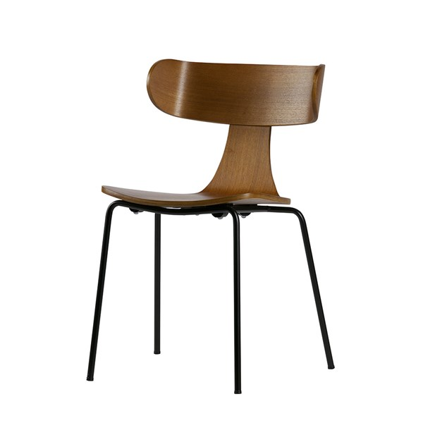 Form Wooden Dining Chair in Brown