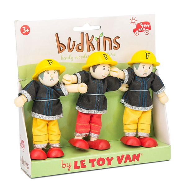 Le Toy Van Budkins Fire Fighters set of 3
