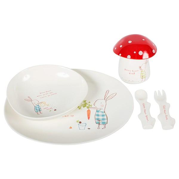 Bunny Green Kids Melamine Dinner Set