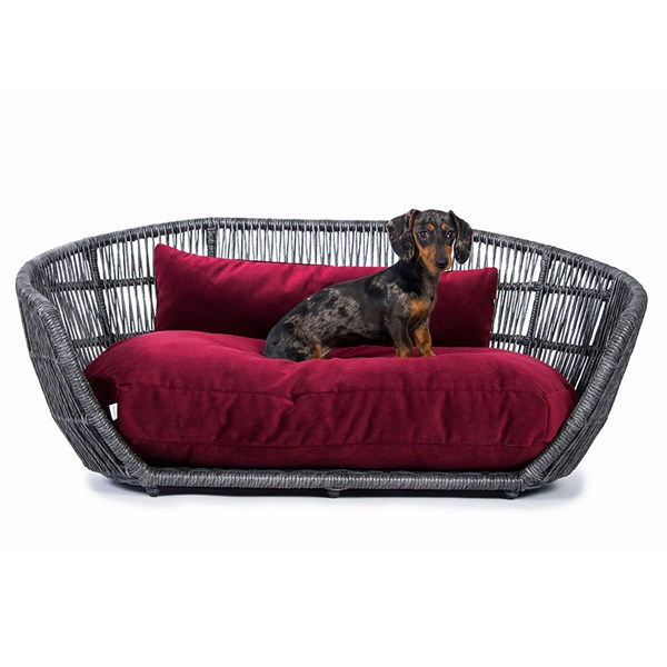 Laboni Prado Velvet Dog Bed in Various Colours