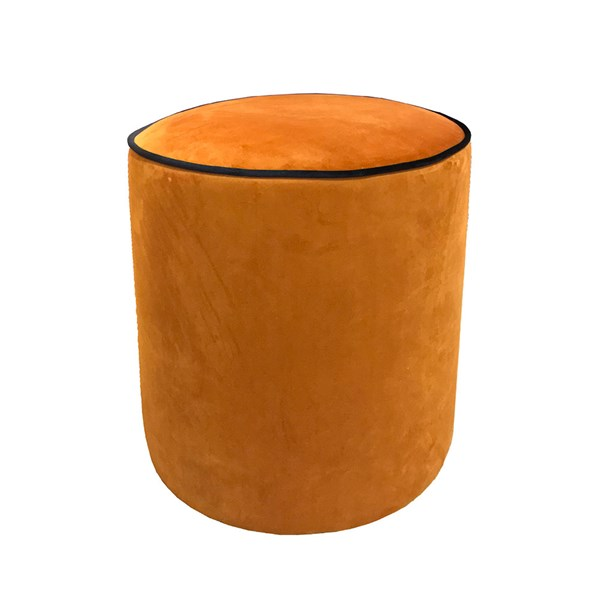 Culinary Concepts Piper Velvet Stool with Piping