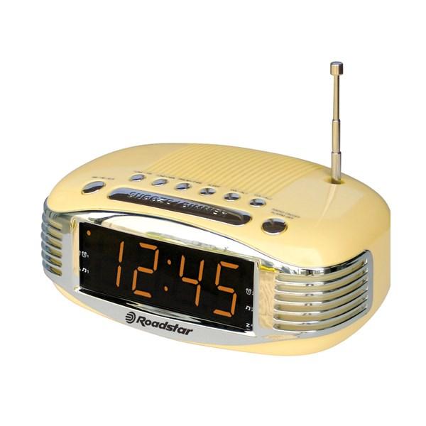Retro Clock Radio with Digital Display - 1980's style