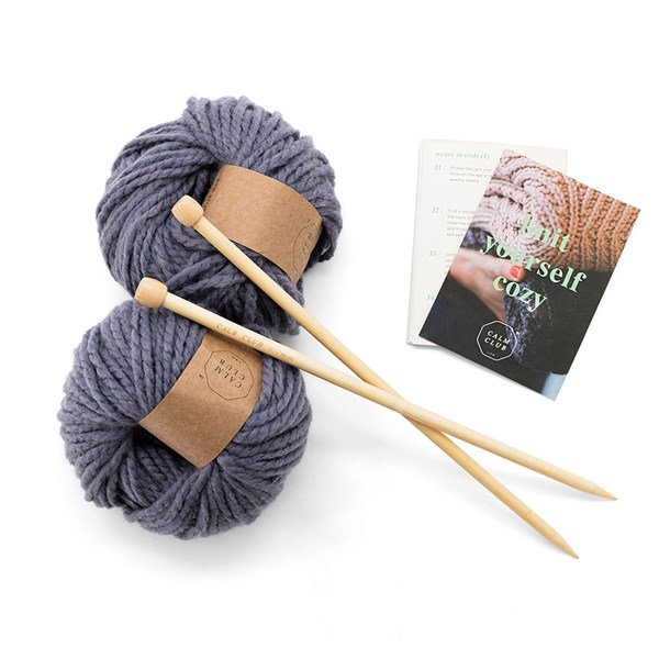 Calm Club Knit Your Own Blanket Kit