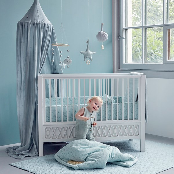 Stylish Wooden Cot Bed with White Finish