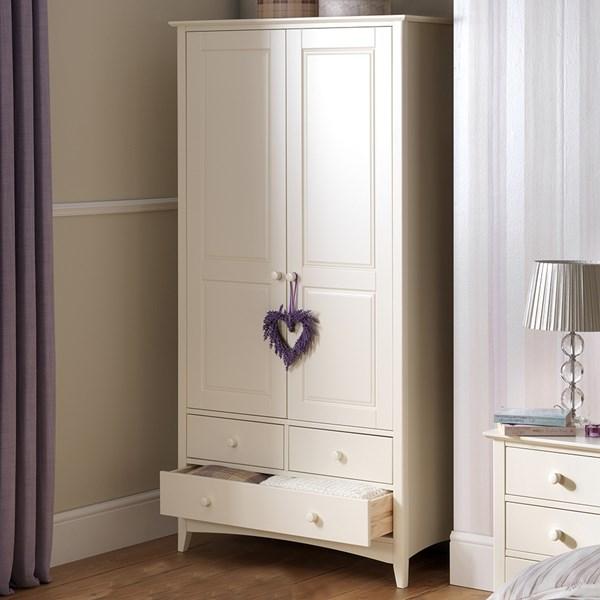 Cameo Combination Wardrobe in White by Julian Bowen