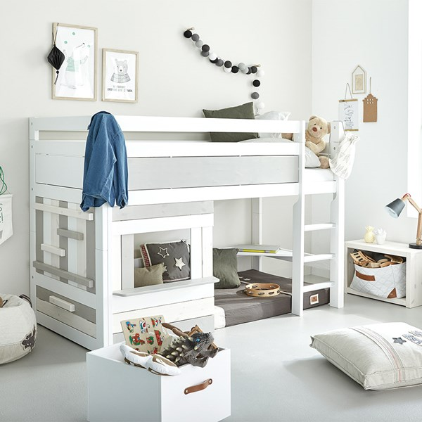 Quirky Kids Semi-High Sleeper with Straight Ladder