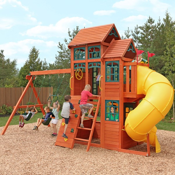 Kidkraft Canyon Ridge Wooden Swing Playset