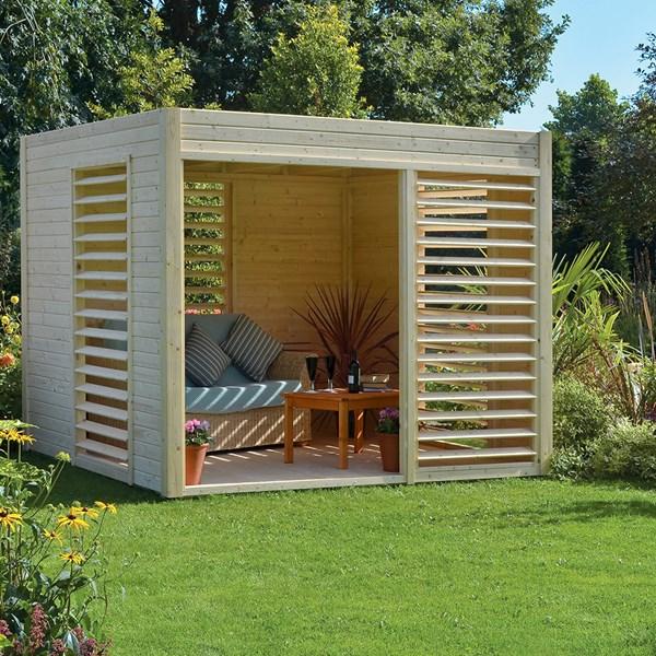 Carmen Pavilion Garden Cabin & Summer House in Natural Timber