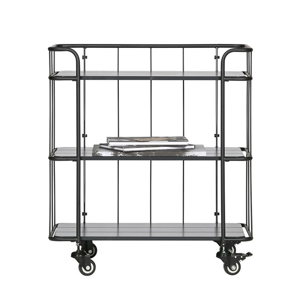 Caro Low Metal Trolley Shelving Unit