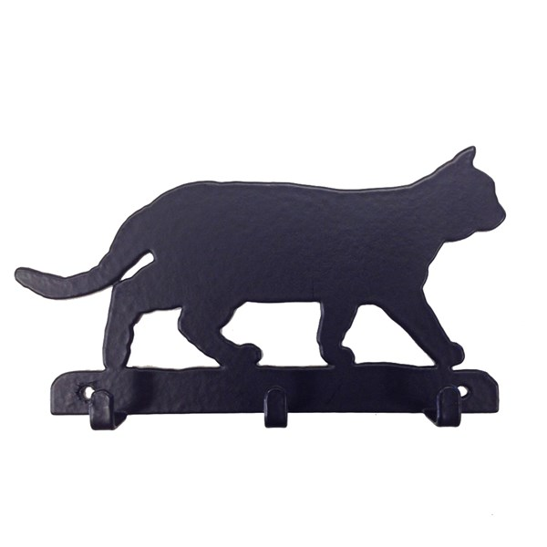 Key Rack with 3 Hooks in Cat Design