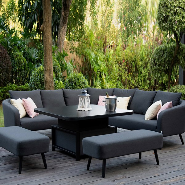Maze Rattan Ambition Square Corner Dining Set with Rising Table