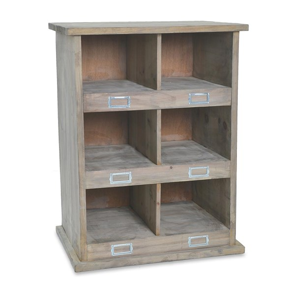 Chedworth Wooden Shoe Rack 6 Cubby Holes