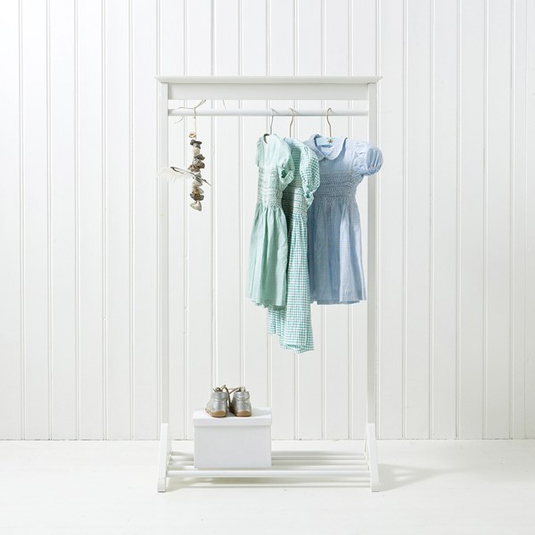 White Hanging Kids Clothes Rail