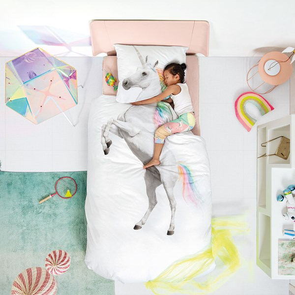 Snurk Single Unicorn Duvet Bedding Set