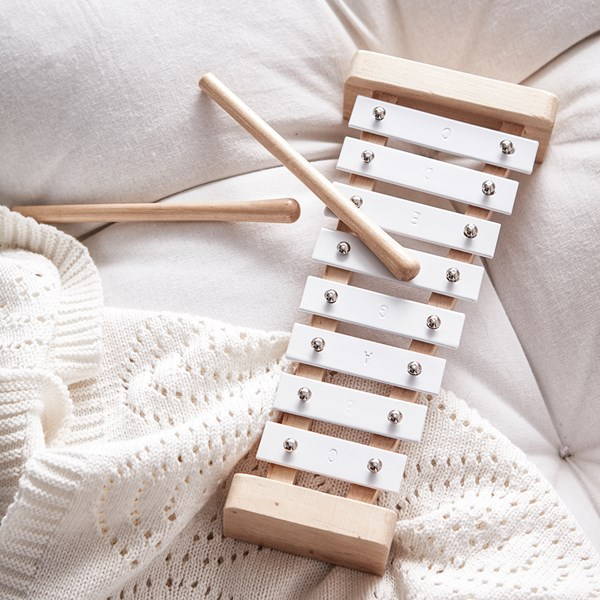 Children's Toy Xylophone in White
