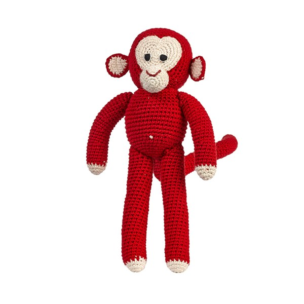 Anne-Claire Petit Chimp Soft Toy in Red Dots