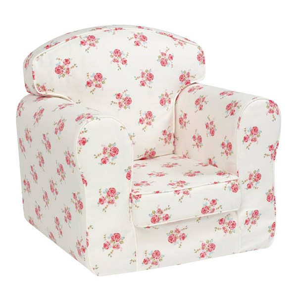 Unique Rose Print Arm Chair for Children
