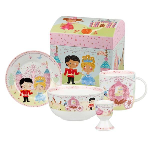 Cinderella 4 Piece China Breakfast Set in Giftbox