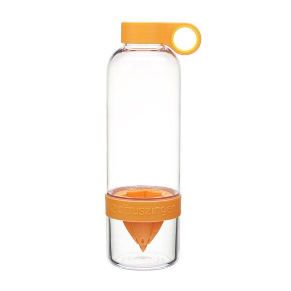 Citrus Zinger Drinks Bottle with Juice Infuser in Orange