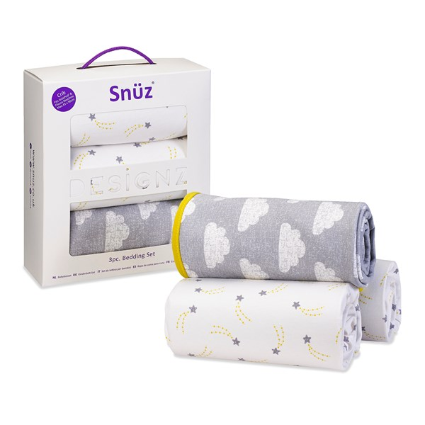 Snuz Crib 3-Piece Baby Bedding Set in Cloud Nine