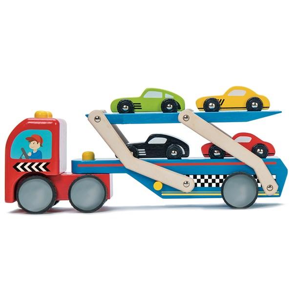 Le Toy Van Race Car Transporter Set