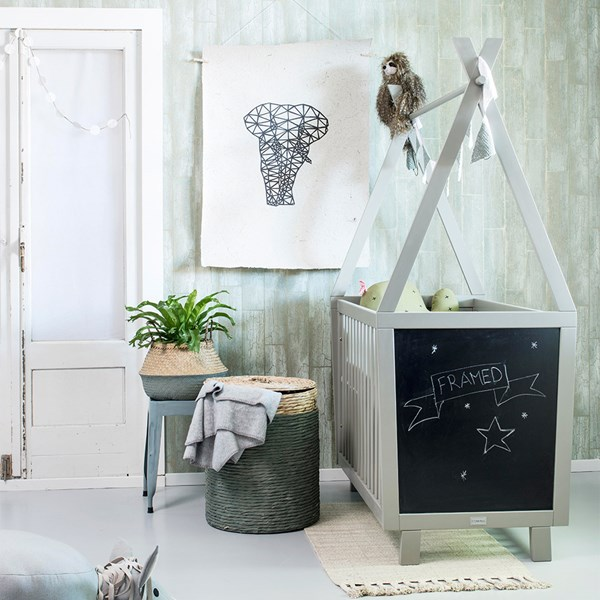 Quirky Cot with Chalkboard Ends