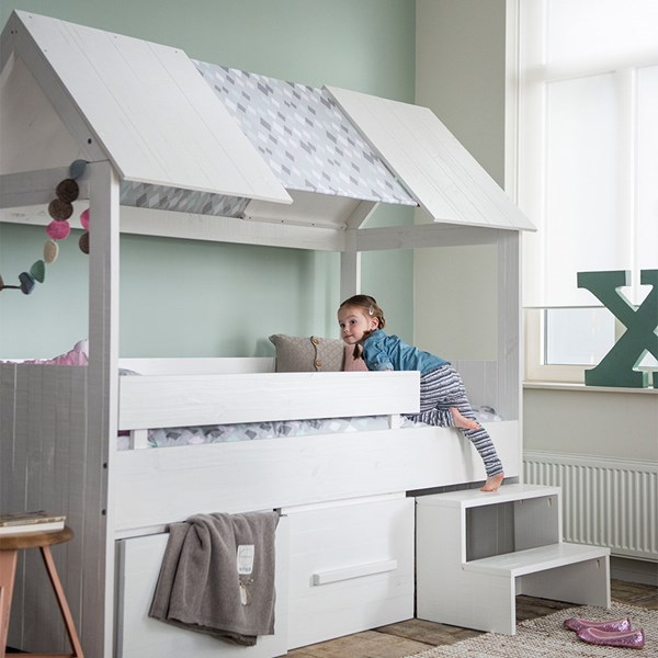 Childrens Unique Cabin Bed with Roof