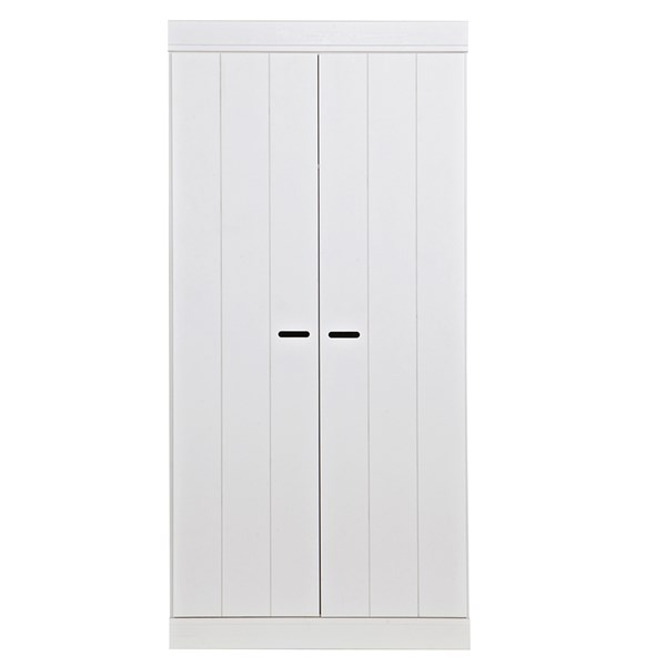 Connect Contemporary 2 Door Wardrobe in White