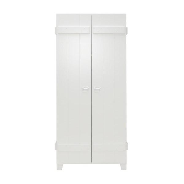 Rough Double Wardrobe in White